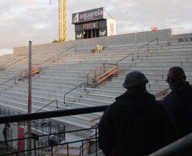 Sócios Xavantes terão a possibilidade de conhecer melhor as obras da arquibancada do novo estádio Bento Freitas. Foto: Carlos Insaurriaga