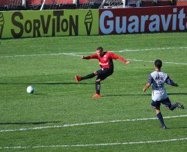 Nathan marcou dois gols na vitória do Brasil sobre o Aimoré, no último teste antes do começo do segundo turno da Série B. Foto: Jonathan Silva
