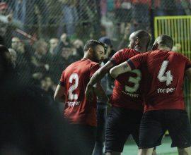 Cirilo (3) marcou o gol Xavante diante do Criciúma. O zagueiro e Weldinho (2) falaram sobre o próximo desafio: Tupi. Foto: Carlos Insaurriaga